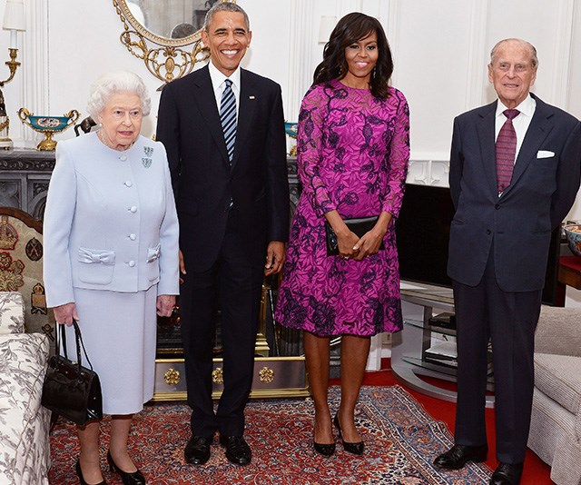 Michelle Obama shared some quirky anecdotes from her day with the Queen in 2016. *(Image: Getty)*