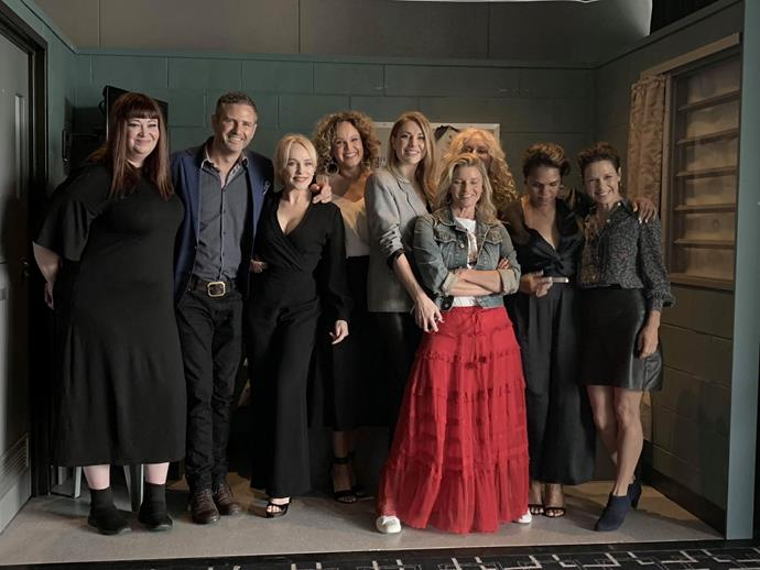 The cast of *Wentworth* at today's announcement.