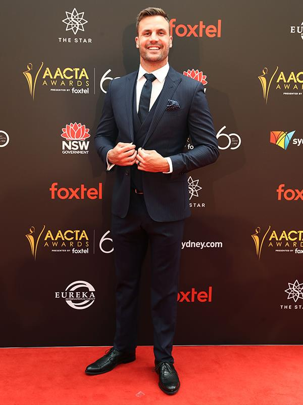Former NRL star and radio presenter Beau Ryan is the first to arrive. *(Image: Beau Ryan)*