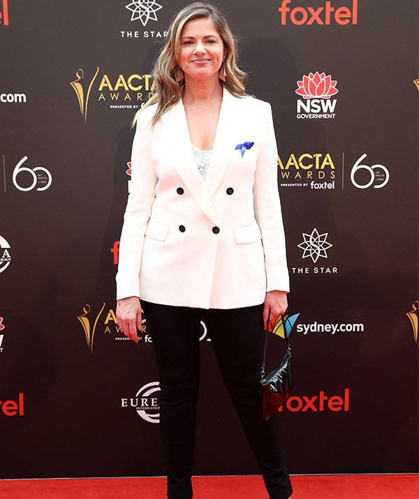 *RocKwiz* Julia Zemiro is suited up for the occasion. *(Image: Getty)*