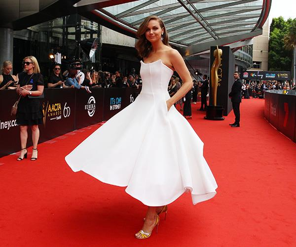 Ksenija takes a twirl. *(Image: Getty)*