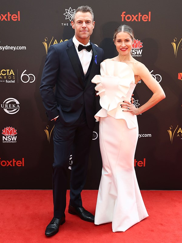 Doctor Doctor's Rodger Corser with his leading lady, wife Renae Berry. *(Image: Getty)*