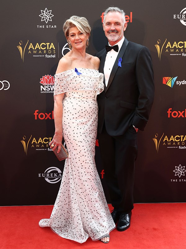 Actress Tina Bursill and actor Andrew McFarlane. *(Image: Getty)*