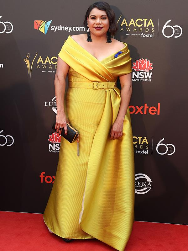 It's a huge night for Deborah Mailman, who is up for the Best Guest or Supporting Actress in a Television Drama for *Mystery Road*. *(Image: Getty)*