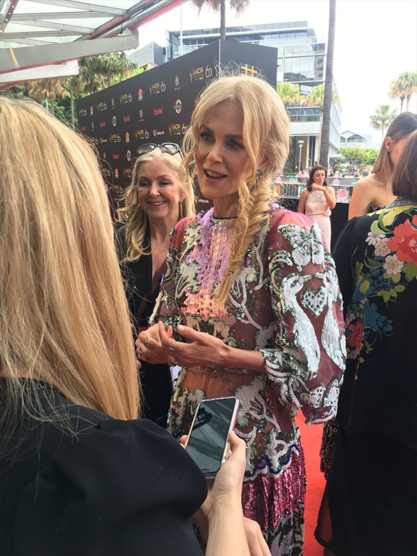*Now to Love* got up close and personal with Nicole on the red carpet and we can confirm she's flawless! *(Image: Now to Love)*