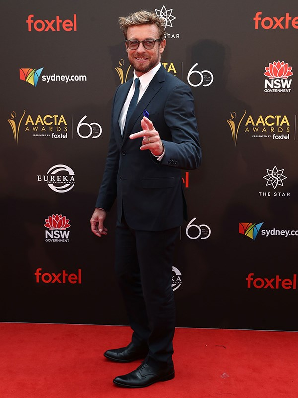 Hollywood heavyweight Simon Baker has arrived! *(Image: Getty)*