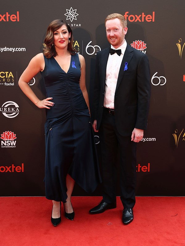 *Rosehaven*'s Celia Pacquola and Luke McGregor. *(Image: Getty)*