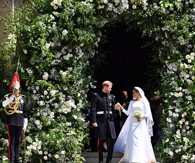 Close to their hearts: Harry and Meghan tied the knot at St George's Chapel, Windsor in May. *(Image: Getty)*