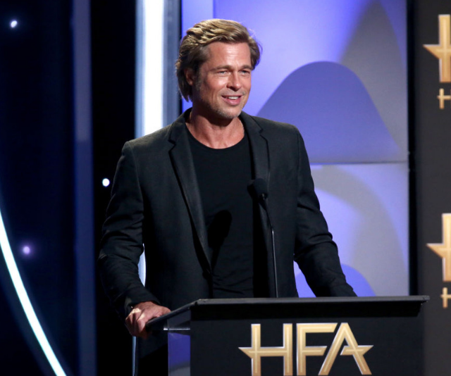 Brad Pitt made a rare public appearance at the 22nd Annual Hollywood Film Awards on November 4. *Image: Getty.*
