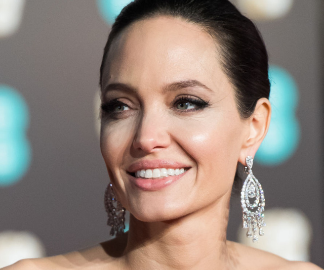 A radiant Angelina attended the BAFTAs at Albert Hall in February. *Image: Getty.*