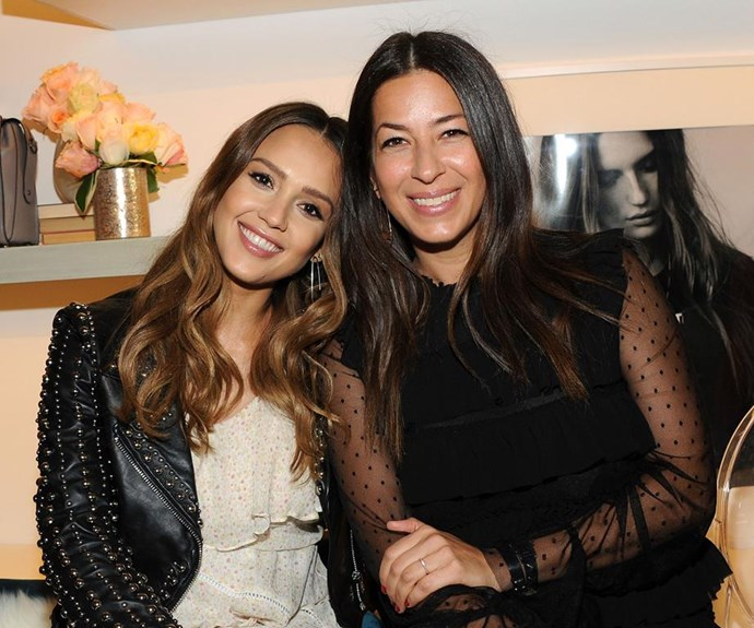 Stylist to the stars Rebecca Minkoff (pictured with Jessica Alba) knows how to pack. *(Image: Getty Images)*