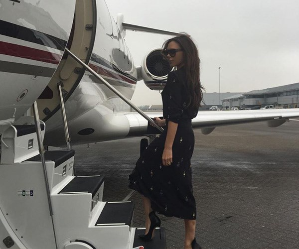 Jet-setter Victoria Beckham knows how to prepare when she travels. *(Image: Instagram @victoriabeckham)*