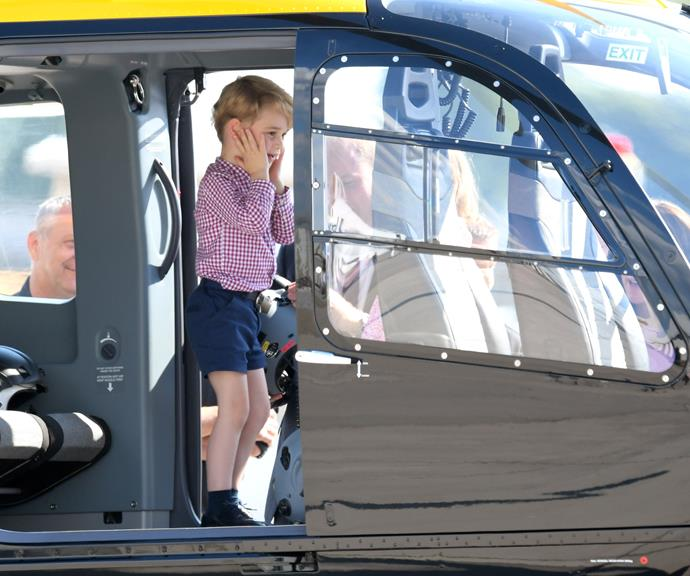 Prince George is practically beside himself with excitement! *(Source: Getty Images)*