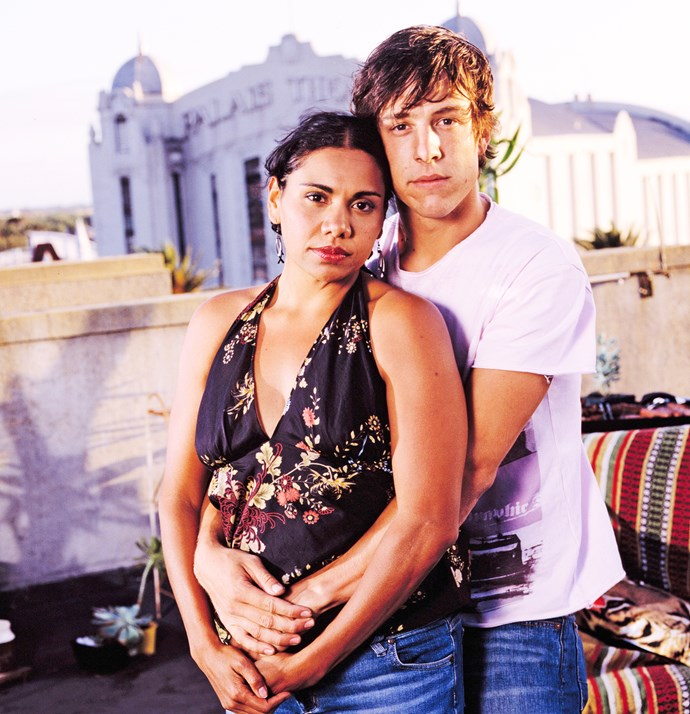 Co-stars Deborah Mailman and Samuel in *The Secret Life Of Us*.