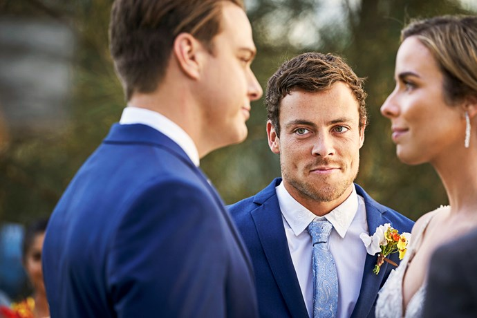 Dean is thrilled to see his best mate, Colby, tie the knot.