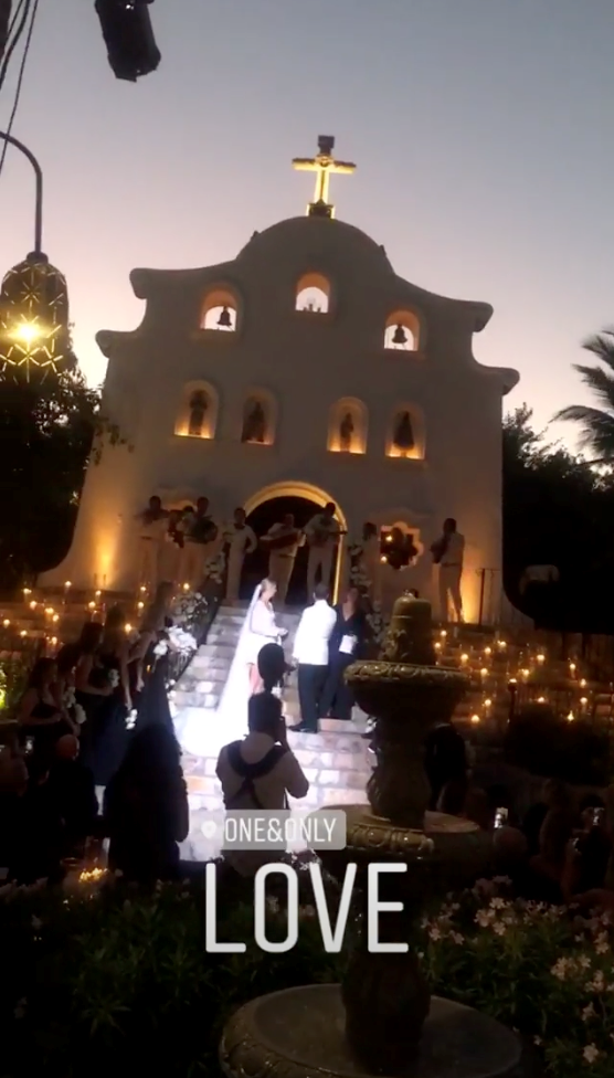 After the couple said 'I do'! Guest, Elke Long, took video of the romantic setting. *(Source: Instagram)*