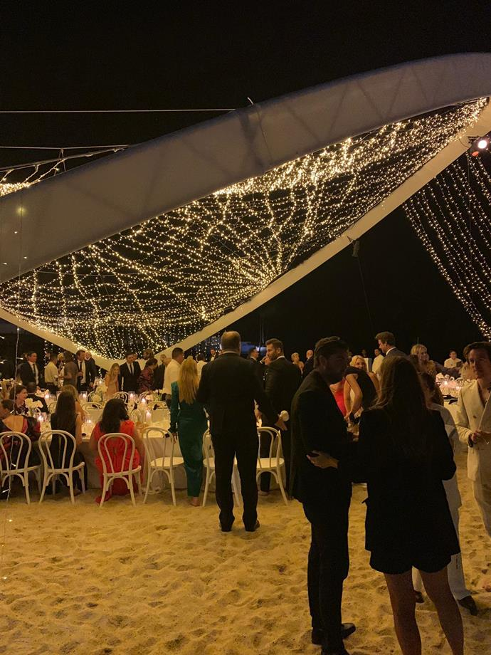 Inside the wedding reception. *(Source: Supplied)*