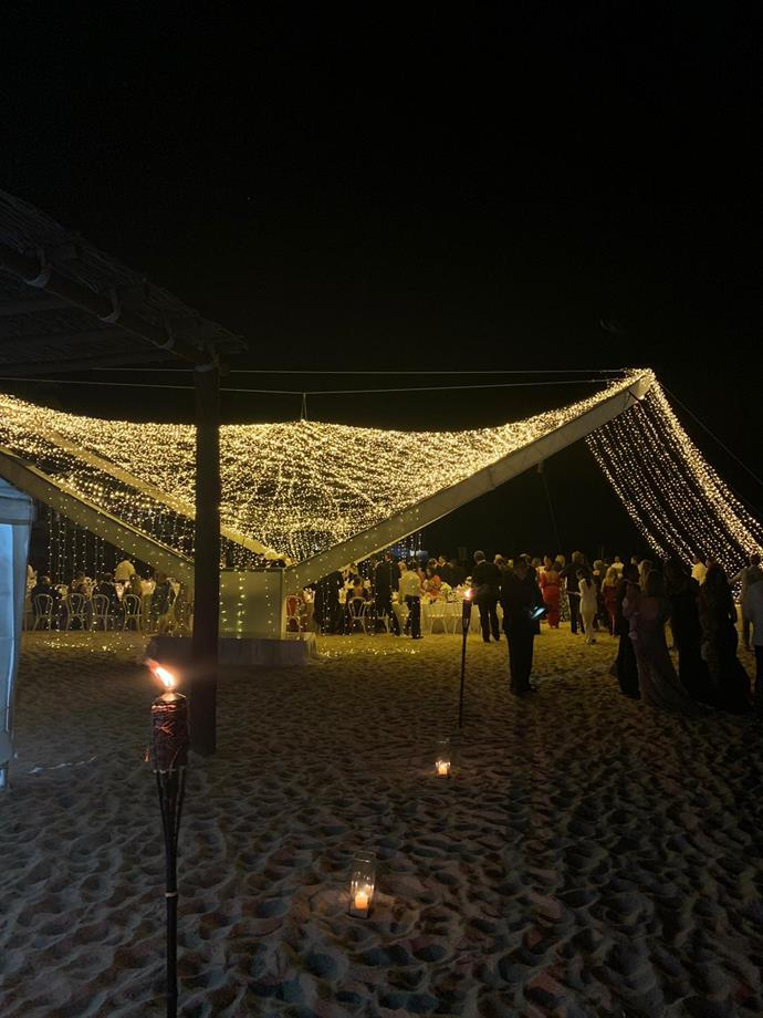 View of the incredible fairy lit structure on the beach. *(Source: Supplied)*