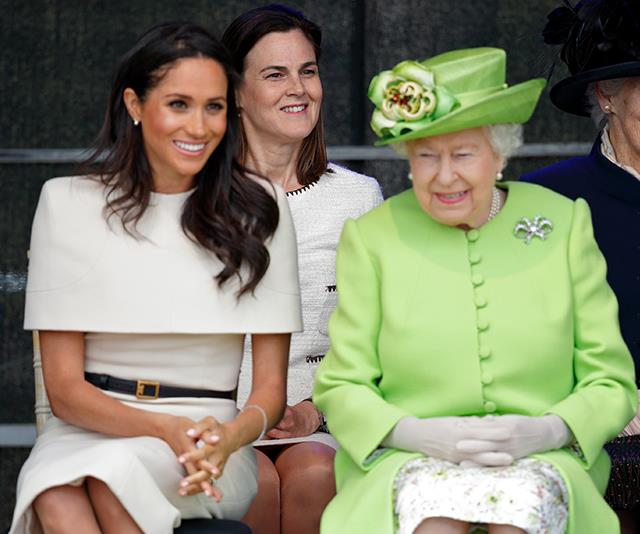 Samantha accompanied Meghan and the Queen on their royal engagement to Cheshire. *(Image: Getty Images)*