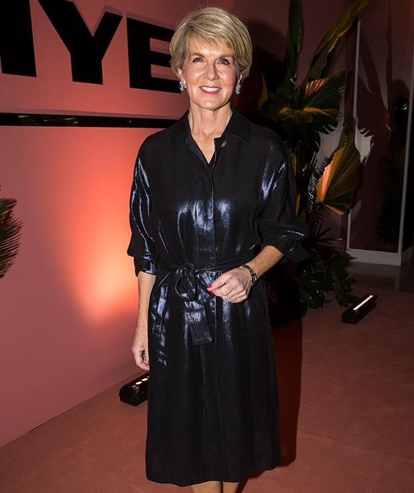 Julie Bishop at Myer's Sping/Summer runway show. *(Image: Getty)*