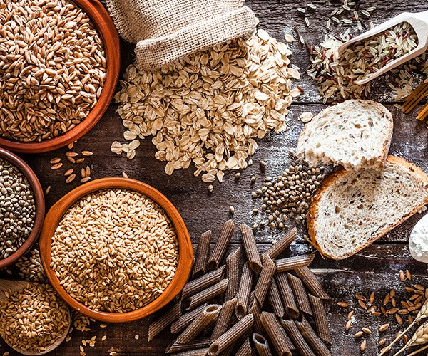 Opt for wholegrains like rolled oats, brown rice and quinoa. *(Image: Getty Images)*