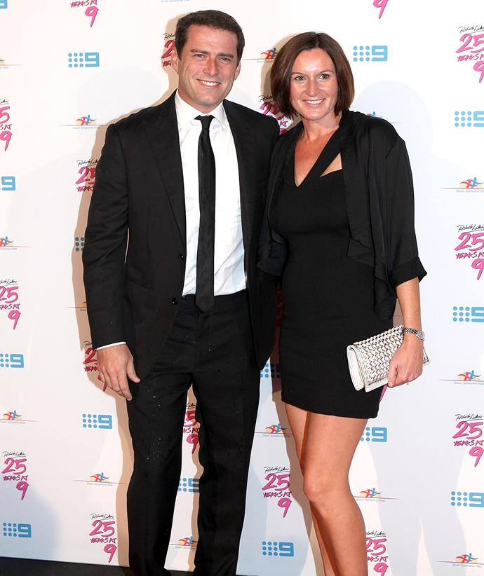 Karl Stefanovic and Cassandra Thorburn pictured in 2012. *(Image: Getty)*