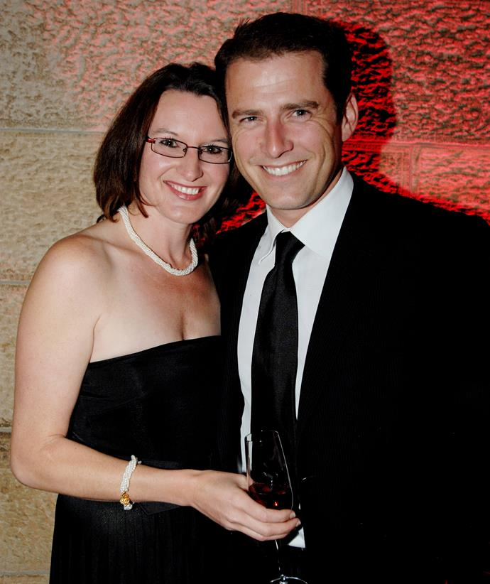 Cassandra Thorburn and Karl Stefanovic pictured during happier times in 2008. *(Image: Getty)*