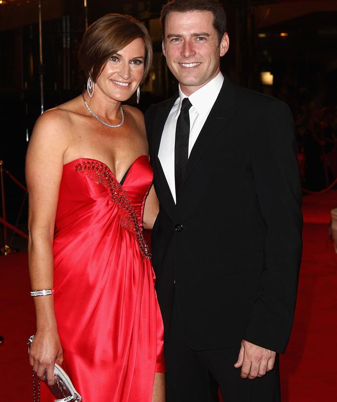 Cassandra Throrburn and Karl Stefanovic at the 2011 Logies.
