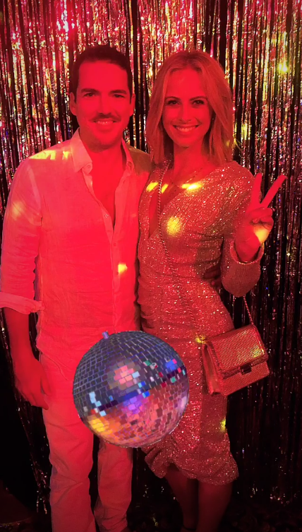Sylvia and husband Peter looked like they were having a jolly good time. *(Image: Instagram / @sylviajefferys)*