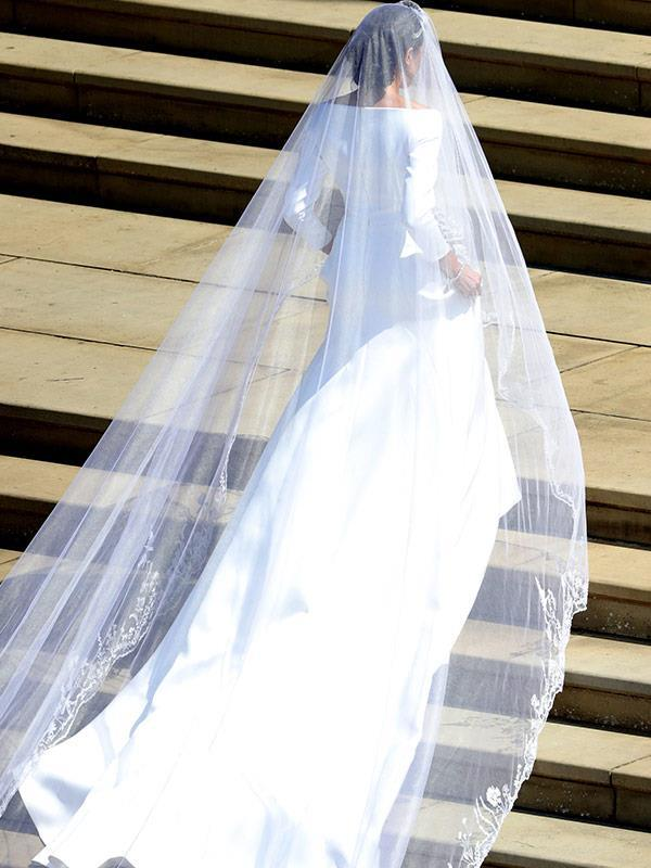Claire Waight Keller designed Duchess Meghan's wedding dress. *(Image: Getty Images)*