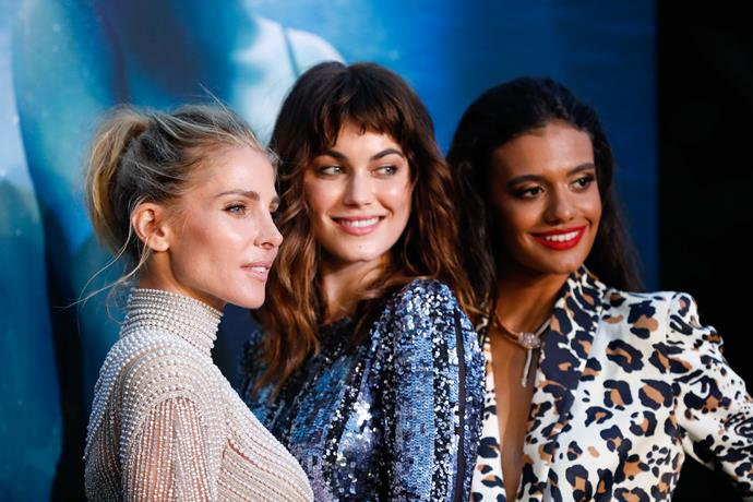 Elsa, Charlotte and Madeleine Madden at the premiere (Image: Netflix - Hanna Lassen)