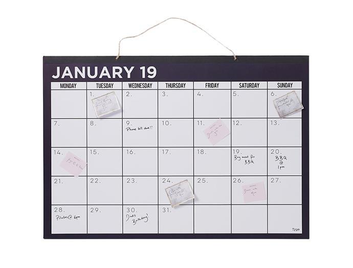 "[Typo wall planner](https://cottonon.com/AU/2019-a1-wall-calendar/142377-01.html?dwvar_142377-01_color=142377-01&cgid=diaries-planners&originalPid=142377-01|target=""_blank""|rel=""nofollow""), $49.99"