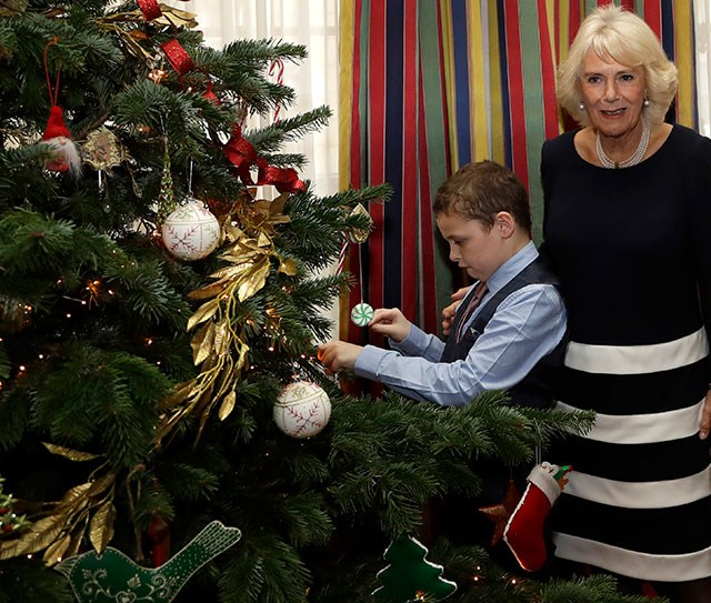 Every year, the Duchess of Cornwall hosts an annual Christmas party for children terminally ill children and their families at Clarence House in London. *(Image: Getty)*