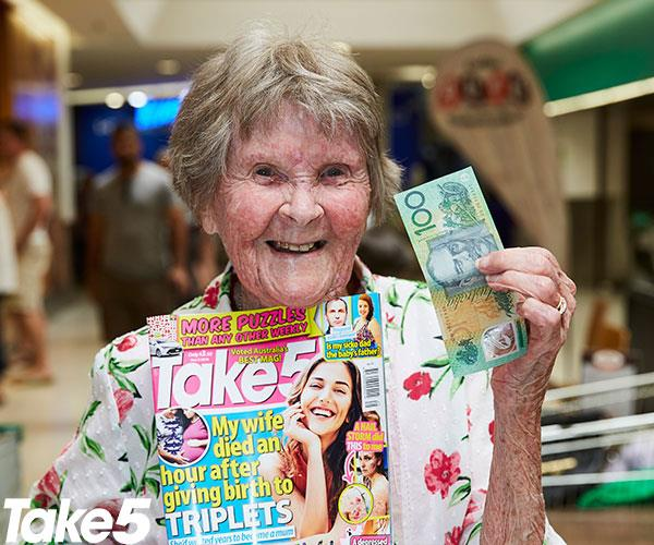 """**Noeline Conrick, 97, from Kanahooka** <br><br> You've just made my day!  <br><br> December is a big month: I turn 98 and I'm thrilled to have made it so far.  <br><br> People always ask what the key to happiness at my age is and I tell them, """"[Don't dwell on the past](https://www.nowtolove.com.au/news/local-news/sincerely-frances-a-letter-to-restore-your-faith-in-humanity-6611