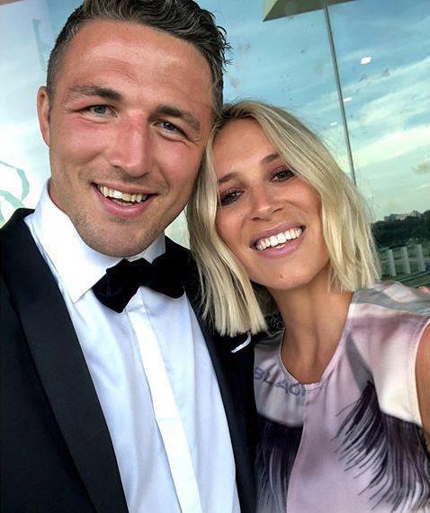 The couple before Sam's cheating scandal broke. *(Image: Instagram)*