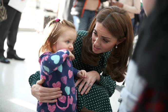Kate proved once again that she's a natural with kids. *(Image: Getty)*
