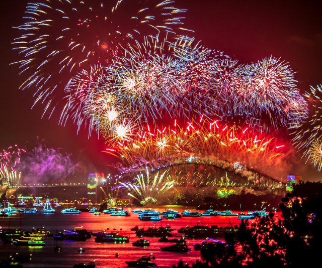 Sydney sure knows how to light up the night sky! *Image: Getty Images.*