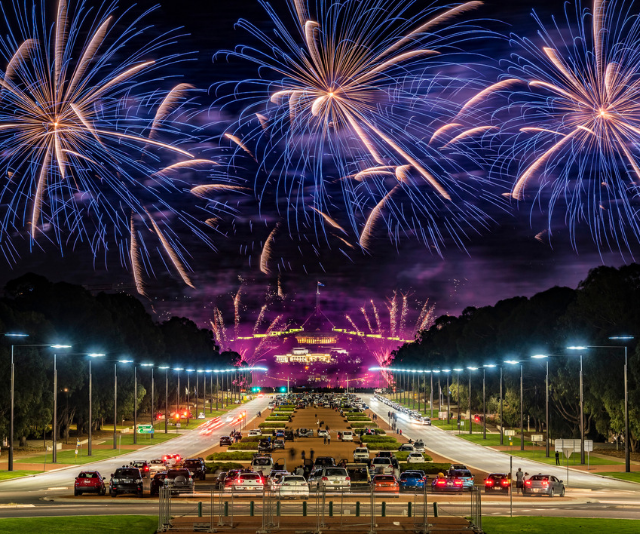 The nation's capital, Canberra puts on a great show. *Image: Getty Images.*