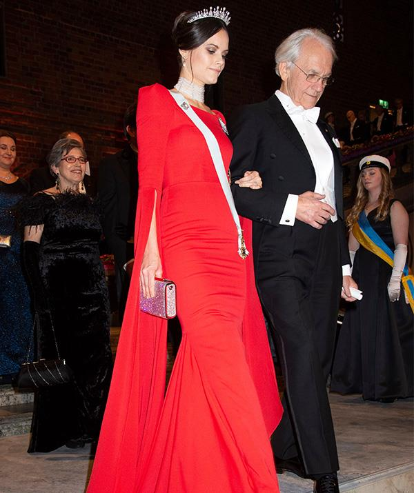Princess Sofia wore a showstopping Zetterberg Couture dress to the event. *(Image: Rex)*