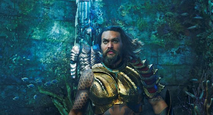 Jason takes on the role of Aquaman, the half-human underwater King of Atlantis.