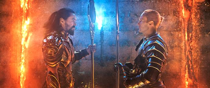 Aquaman opposes Orm's plan to declare war on the humans.