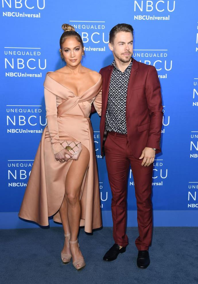 Jennifer Lopez and Derek Hough star in *World of Dance* together. *(Soruce: Getty Images)*