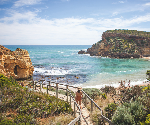 A few kilometres down Childers Cove Road on the Victorian coastline, you are slapped with arresting scenes of towering limestone stacks and secret bays. *(Source: Dillon Seitchik-Reardon)*