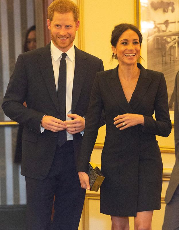 Meghan's colour of choice seems to be black. *(Image: Getty)*