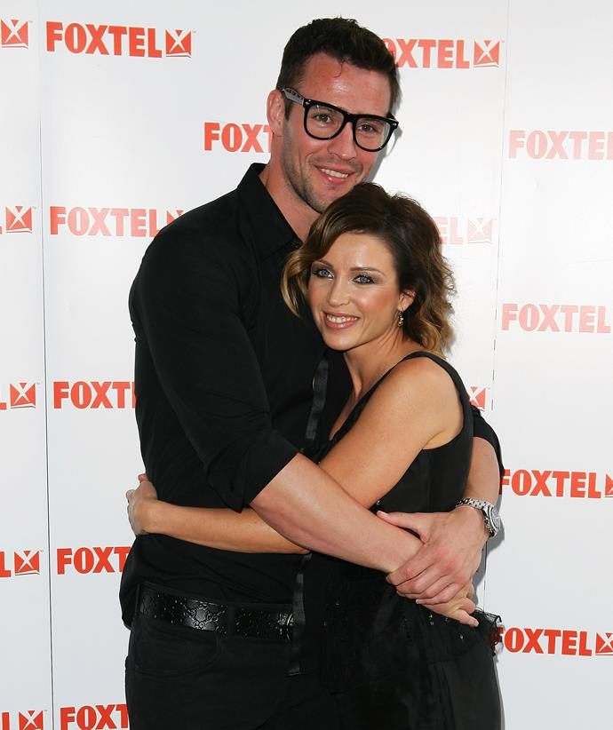 Kris Smith and Danni Minogue pictured together in 2011. *(Image: Getty)*
