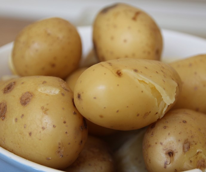 **Easy peel potatoes** <br><br> Boil unpeeled potatoes until tender then immediately transfer to ice water. The skins will easily come right off! *(Image: Getty)*