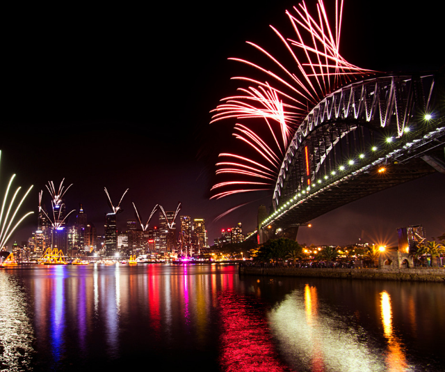 **Cremorne Point, 1pm – 1am:** You'll find partial views from here, thanks to the trees, however it is still a popular spot for families to set up and watch the sky light up. Toilets and food are available. Expect road closures around this site. *Image: Sydney Fireworks Getty Images*