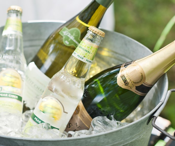 **Chill wine in a flash** <br><br> Treat guests to chilled wine even when you haven't got any in the fridge. Fill a jug with half ice and half water, then add a generous amount of salt to help the water reach a lower temperature. Submerge your bottle and wait a few minutes for it to cool down. *(Image: Getty)*
