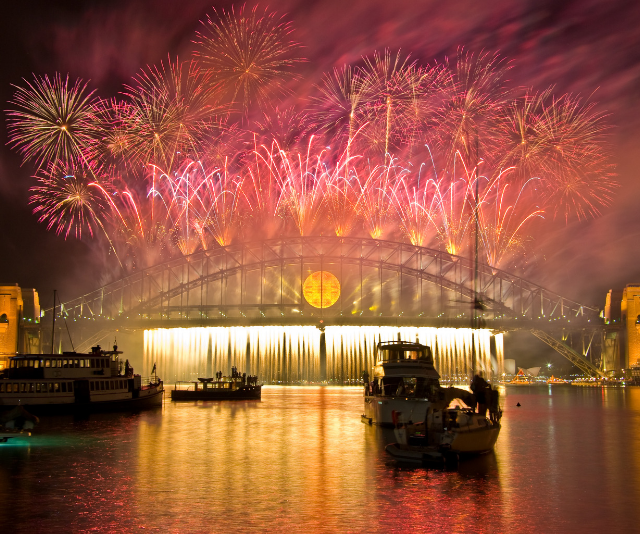 **Pirrama Park, Pirrama Road, Pyrmont, 2pm – 1am:** Accessible and family friendly - parks, food, space and more - this is a popular spot to take in views of the western side of the Sydney Harbour Bridge and harbour. Toilets and food are available. Expect road closures around this site. *Image: Sydney Fireworks Getty Images*