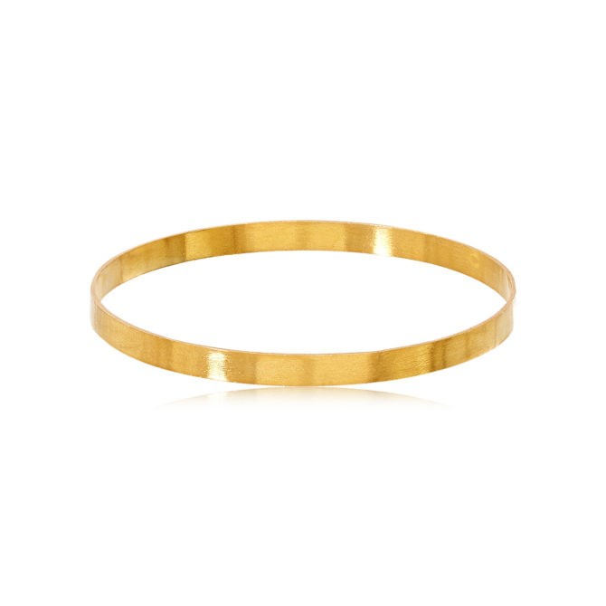"""This [stunning gold bangle](https://www.pippasmall.com/product/oshna-bangle/